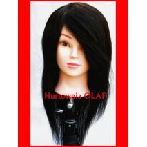 Główka fryzjerska  100% naturalny włos + statyw