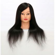 Główka fryzjerska włos termiczny 80CM statyw